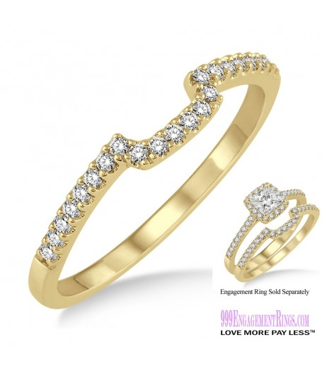 Diamond Wedding Band LM1129YG-WB 1/6 Carat