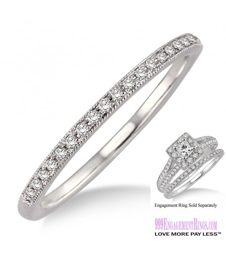 Diamond Wedding Band LM1130WG-WB 1/10 Carat