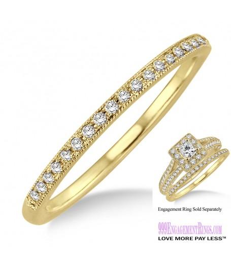 Diamond Wedding Band LM1130YG-WB 1/10 Carat