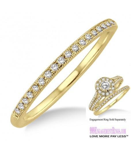 Diamond Wedding Band LM1131YG-WB 1/10 Carat