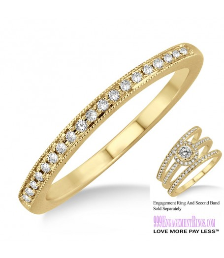 Diamond Wedding Band LM1132YG-WB 1/5 Carat