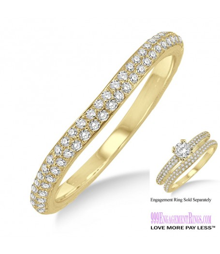Diamond Wedding Band LM1133YG-WB 1/3 Carat