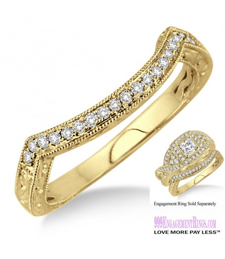 Diamond Wedding Band LM1134YG-WB 1/6 Carat