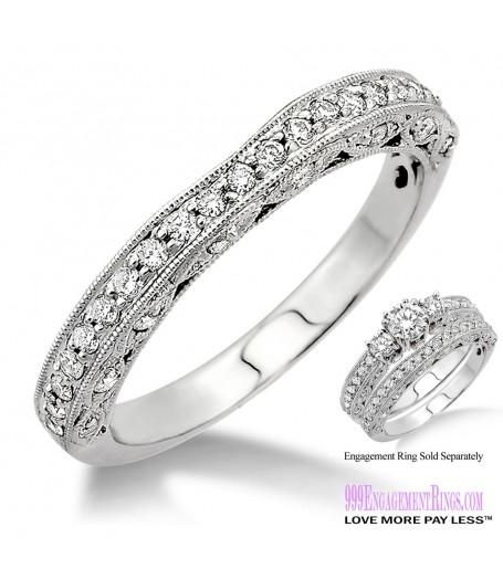 Diamond Wedding Band LM1135WG-WB 3/8 Carat