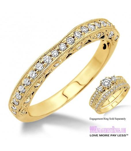 Diamond Wedding Band LM1135YG-WB 3/8 Carat