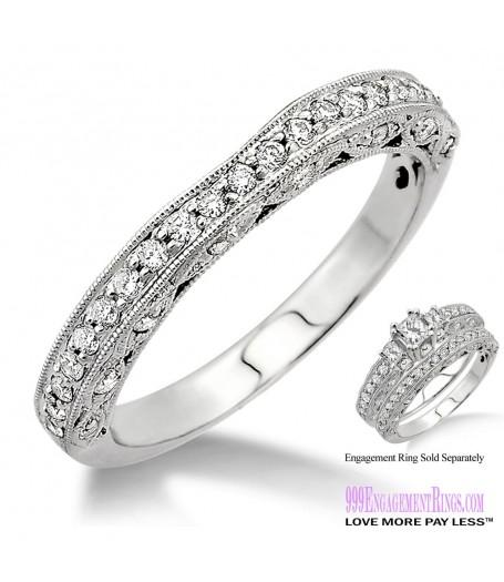 Diamond Wedding Band LM1136WG-WB 3/8 Carat