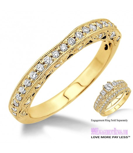 Diamond Wedding Band LM1136YG-WB 3/8 Carat