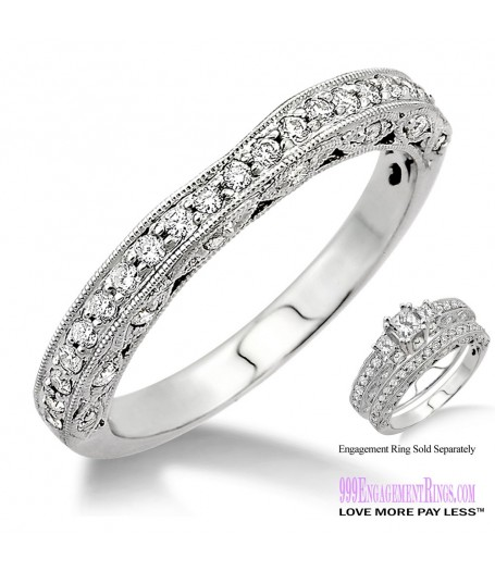 Diamond Wedding Band LM1137WG-WB 1/5 Carat
